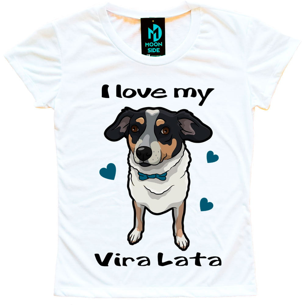 Camiseta Love My Pet - Vira-lata