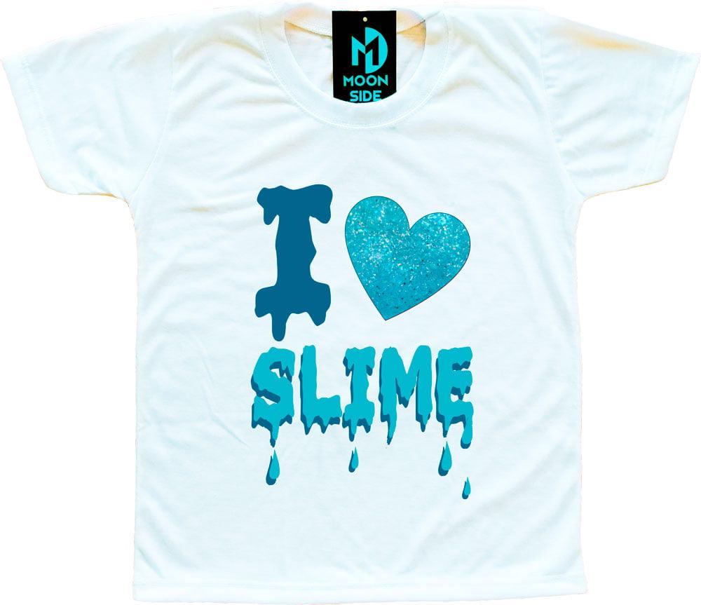Camiseta I Love Slime (Eu amo Slime) - Azul