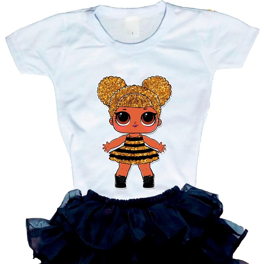 Camiseta Boneca Lol Surprise Queen Bee