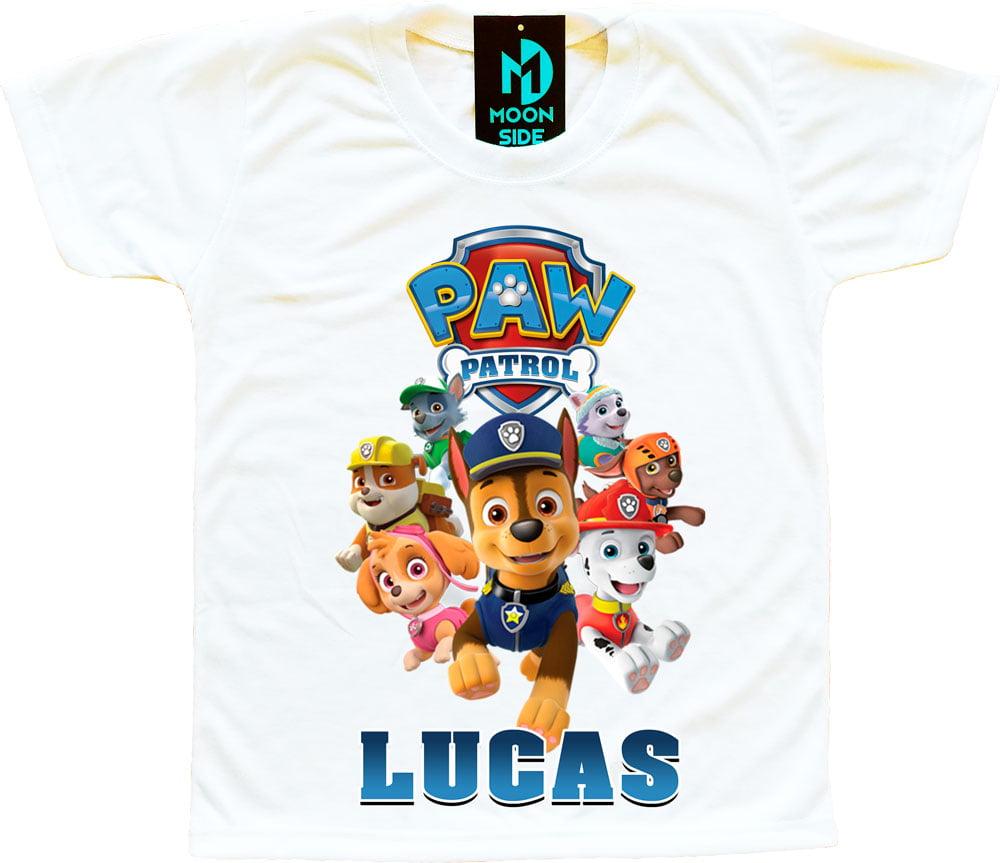 camiseta patrulha canina personalizada