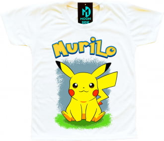 Camiseta Pikachu personalizada