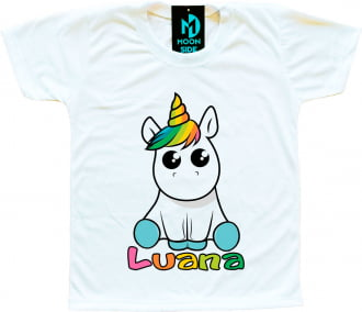 Camiseta Infantil Unicórnio Personalizada