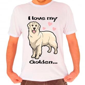 Camiseta Love My Pet  - Golden Retriever