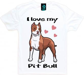 Camiseta Love My Pet - Pit Bull