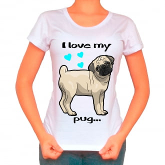 Camiseta Love My Pet - Pug