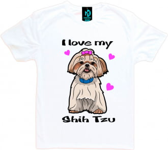 Camiseta Love My Pet - Shih-tzu