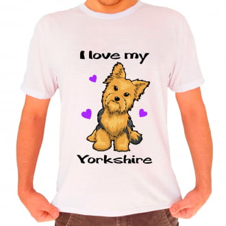Camiseta Love My Pet - Yorkshire