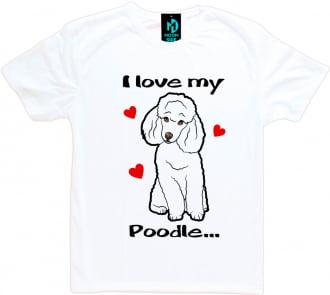 Camiseta Love My Pet - Poodle