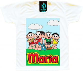 camiseta turma da mônica personalizada