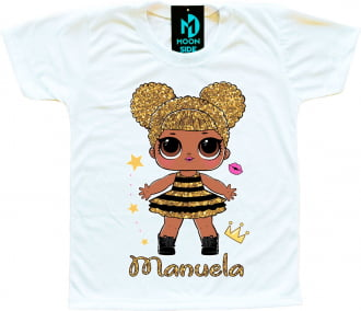 Camiseta Boneca Lol Surprise Queen Bee - Personalizada