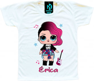 Camiseta Boneca Lol Surprise Rocker - Personalizada