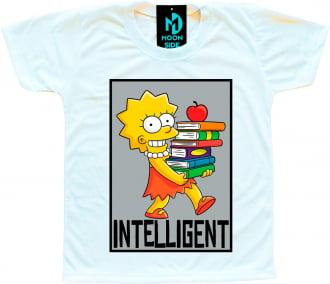 Camiseta Infantil Os Simpson's Lisa Simpson Quadro