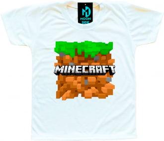 Camiseta Infantil Minecraft Modelo 1