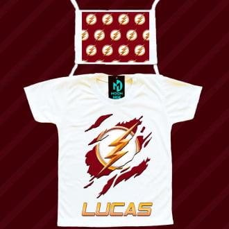 Kit Camiseta e Máscara - Flash