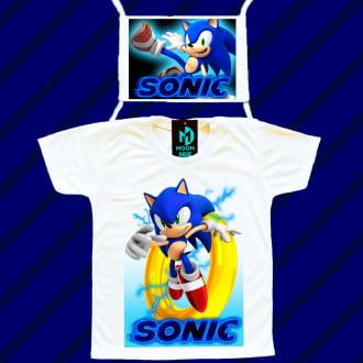 Kit Camiseta e Máscara - Sonic