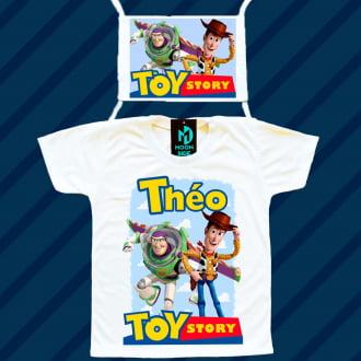 Kit Camiseta e Máscara - Toy Story