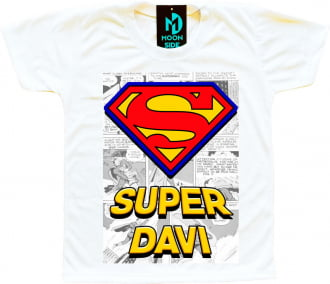 Kit 4 camisetas Super Heróis