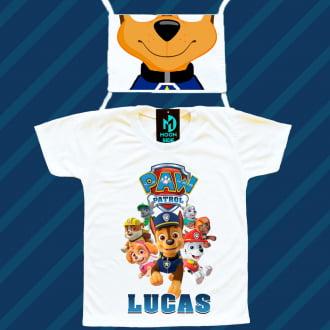 Kit Camiseta e Máscara - Patrulha Canina PAW