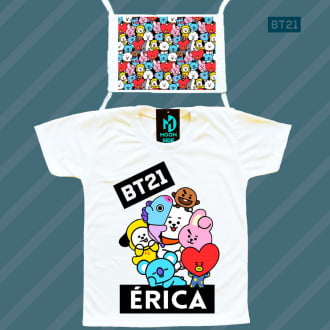 Kit Camiseta + máscara  - BT21