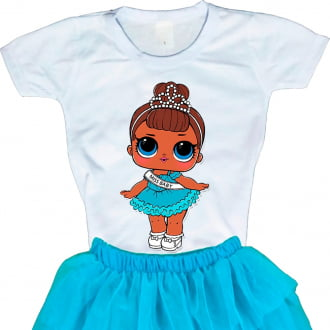 Camiseta Boneca Lol Surprise Miss Baby