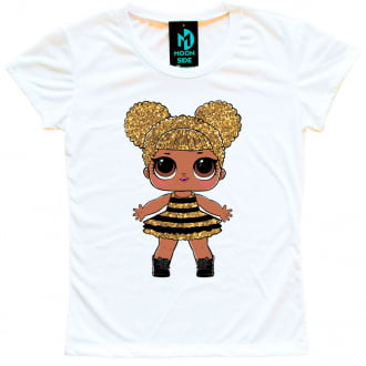 Camiseta Boneca Lol Surprise Queen Bee - Adulto