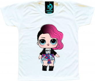 Camiseta Boneca Lol Surprise Rocker