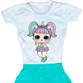Camiseta Boneca Lol Surprise Unicorn (Unicórnio)