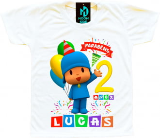 camiseta pocoyo personalizada aniversário