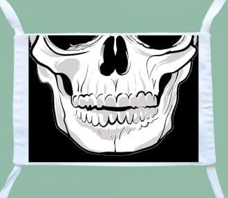 máscara caveira face ( 3 unidades)