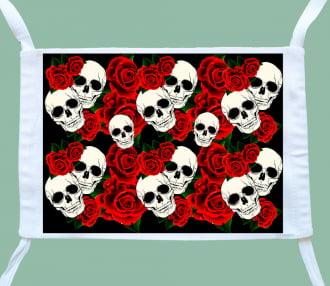 máscara caveiras e rosas ( 3 unidades)