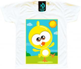 camiseta pintinho galinha pintadinha mini