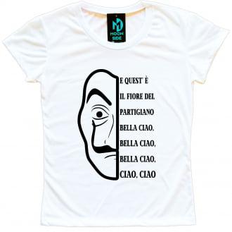 Camiseta La Casa De Papel Máscara Dali Bella Ciao