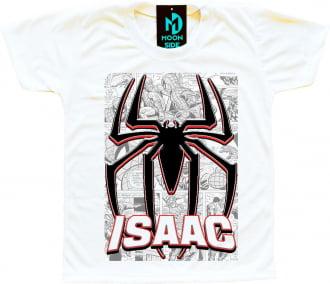 camiseta símbolo homem aranha personalizada