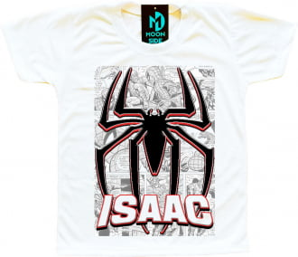 camiseta homem aranha personalizada